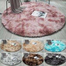 Circle Round Shaggy Rugs Dining room Bedroom Carpet Floor Fluffy Mat Anti-Skid