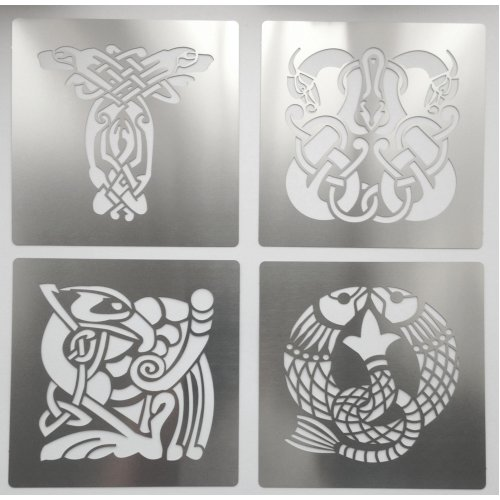 Celtic Animal Knots Stainless Steel Crafting Stencil 7cm