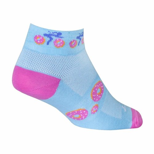 "Socks - Sockguy - Women's 1"" Donut Ride Cycling/Running"