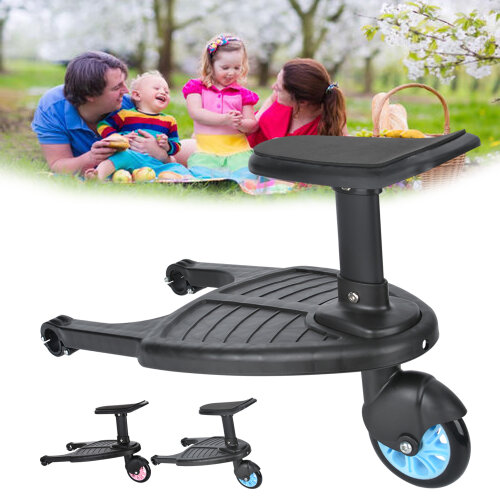 Buggy Stroller Step Board Stand Wheeled Pushchair Connector
