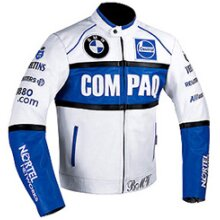 COMPAQ Cowhide Leather Motorcycle Riders Racing Jacket Motorbike Biker Sports Coat New , Protective For Men