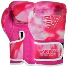 VELO Pink Boxing Gloves Girl Training Kids Mitts