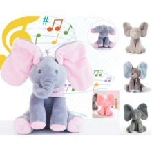 Baby Peek-a-boo plush elephant singing toy elephant doll doll toy with moving ears