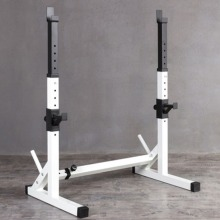 Heavy Duty Adjustable Squat Rack Barbell Power Stand Weight Bench Support Gym UK