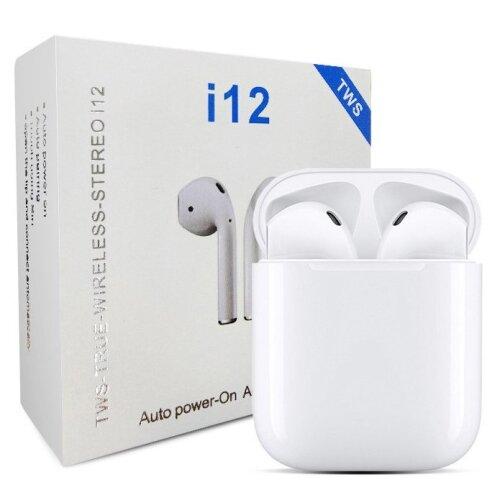 TWS i12 Bluetooth InPods - White | Wireless Earphones