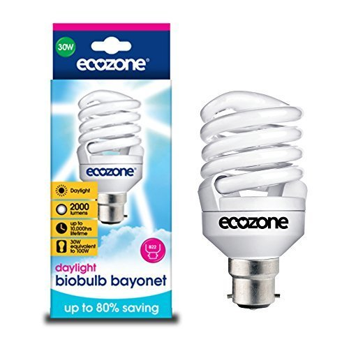 Ecozone Biobulb MAX, Extra Bright, Energy-Saving Bulb, Bayonet Cap