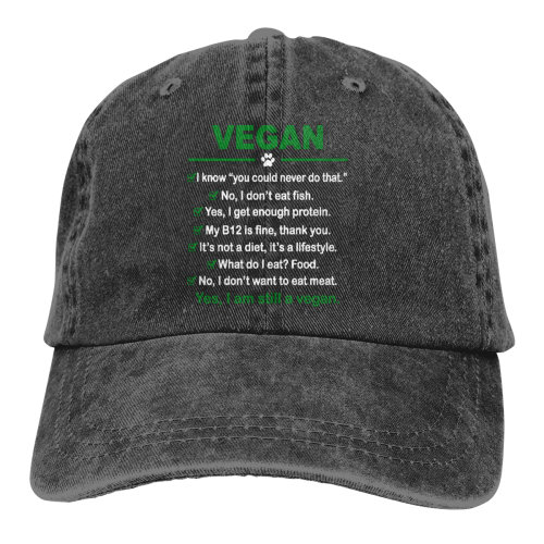 Funny Vegan I Am Still A Vegan Denim Baseball Caps