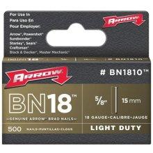 "Arrow BN1810 Brad Nails Brown Head Size: 5/8"" - 15mm Pack: 500"