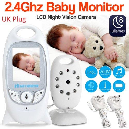 Baby Monitor 2.4GHz Digital Video NightVision Audio Sensor Camera 2.4″