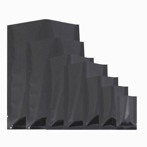 100 x Matte Black Open Top Heat Sealant Bags Flat Pouch BPA Free Food Packaging