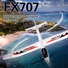 FX707S Airplane Hand Launch Glider Plane Throwing Airplane Soft Foam