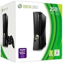 Xbox 360 Slim 250GB Black Console + Wireless Controller Built-In Wi-Fi - Used