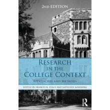 Research in the College Context by Edited by Frances K Stage & Edited by Kathleen Manning - Used