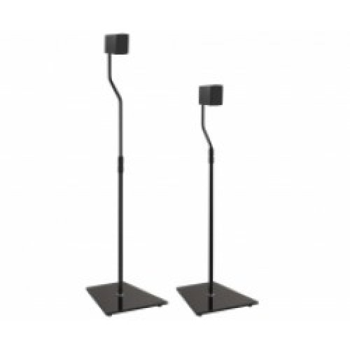 King Universal Freestanding Speaker Floor Stand, Pair, Black for Surround Sound Speakers