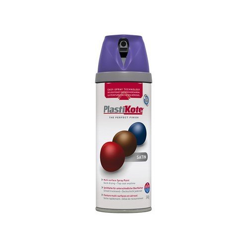 Plasti-Kote PKT22116 Twist & Spray Satin Sumptuous Purple 400ml
