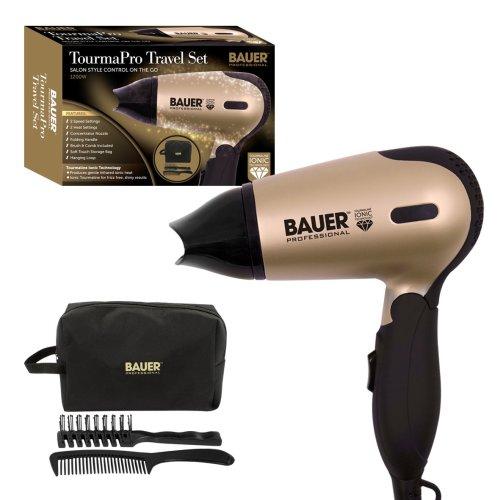 Bauer TourmaPro Travel Hairdryer Set 1200W