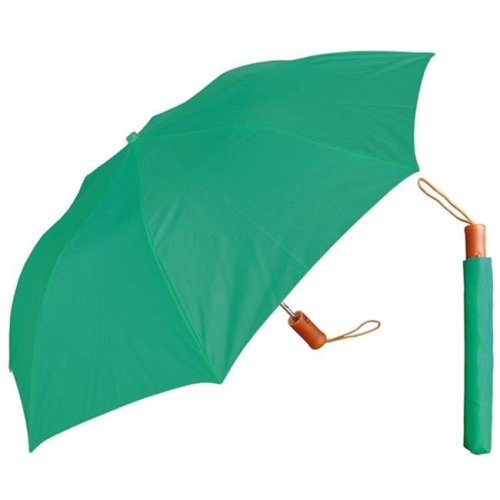 RainStoppers W001-W-TEAL 42 in. Auto Open Deluxe Teal Umbrella with Wood Handle, 6 Piece