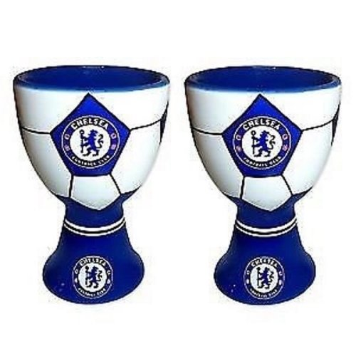2 x Chelsea Football Egg Cups - Official Chelsea Egg Cups