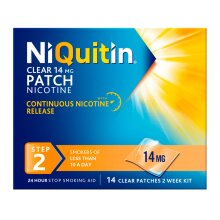NiQuitin Clear 14mg Patches Step Two - 14 Patches