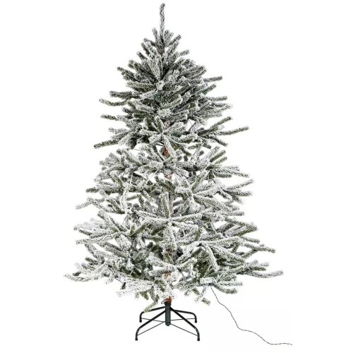 Home Pre-Lit Natural Snowy Christmas Tree - 6ft