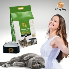 Premium Cat Litter Natural Strong Clumping in3s, Extra Absorbent 6.5kg