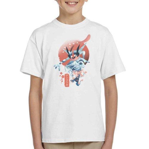 Ukiyo Greninja Pokemon Kid's T-Shirt