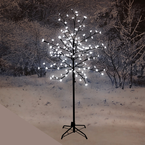 (White) LED Cherry Blossom Tree With 150 Christmas Lights - 5ft