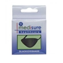 Black Medisure Eyeshade Patch - Protective Shield Medical Elasticated First Aid -  black protective medisure eyeshade shield patch medical