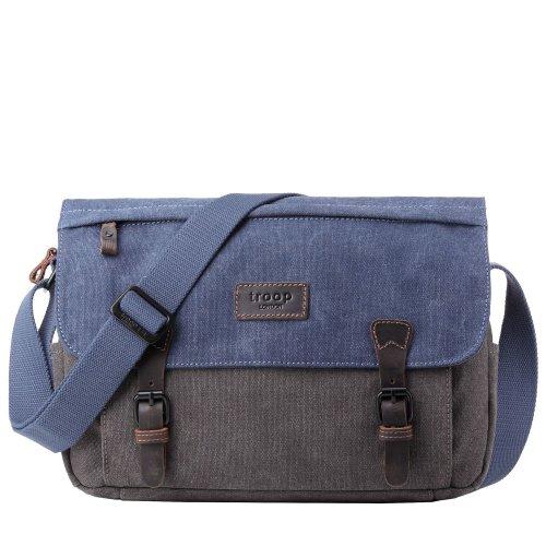 TRP0463 Troop London Classic Canvas Messenger Bag | Buy Bags Online | Canvas Messenger Bags | leather canvas backpack