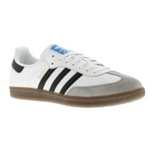 Mens Leather Upper Trainer With Suede And Gold Foil Details Lace Fastening With