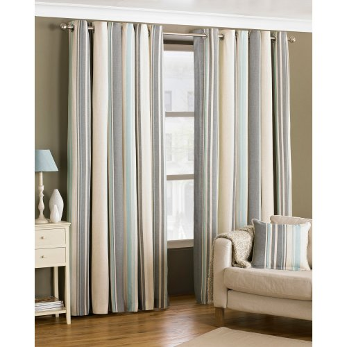 (90x90 (229x229cm), Duck Egg) Riva Home Broadway Ringtop Curtains