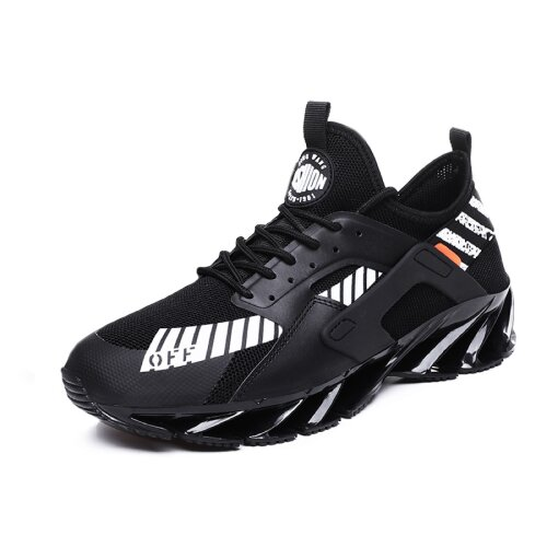 (Black, 6) Men's Trainers Blade Running Sports Casual Fashion Shoes