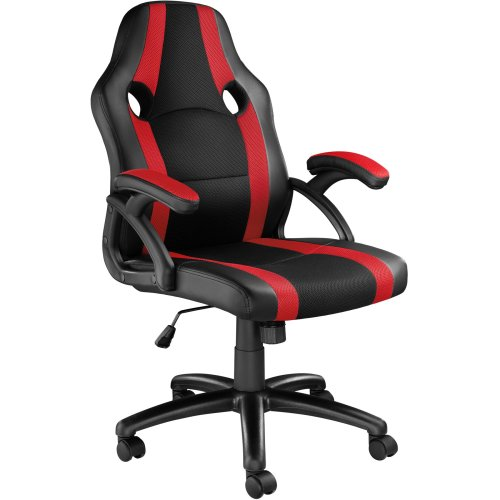 tectake Office Chair Benny - Black & Red