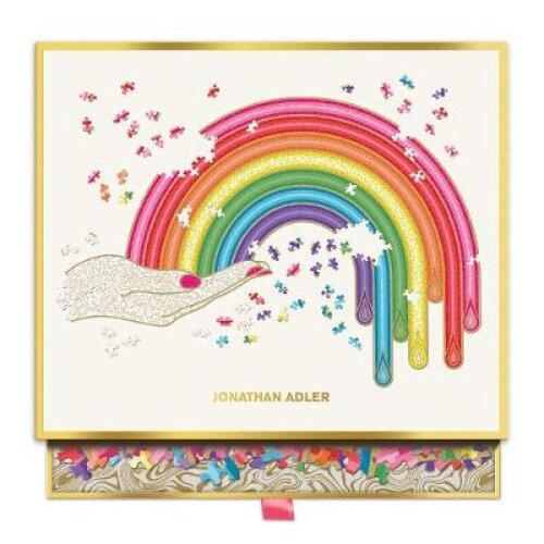 Jonathan Adler Rainbow Hand 750 Piece Shaped Puzzle