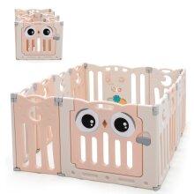 12 Panel Baby Infant Playpen Kids Folding Play Yard