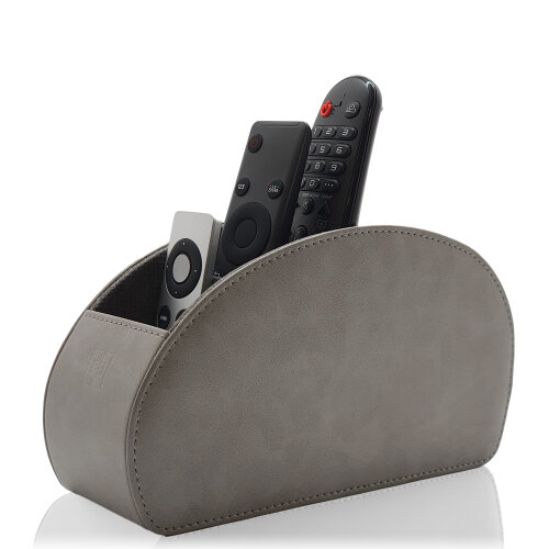 Remote Control Holder with Five Compartments - Grey