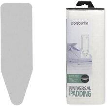 Brabantia Ironing Board Cover and Replacement Felt Pad Bundle, Size B - Silver