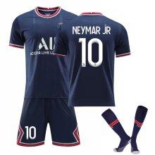 Neymar Jr.Home Jersey 2021-2022 Season Paris Saint Germain Team Jersey Kit for Kids Teens