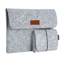 """dodocool 13.3 Inch Laptop Felt Sleeve Carrying Case with Mouse Pouch for Apple 13"""" MacBook Air / 13"""" MacBook Pro / 13"""" MacBook Pro Retina and Most..."""