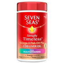 Seven Seas Simply Timeless Cod Liver Oil Plus Multivitamins 90 Capsules