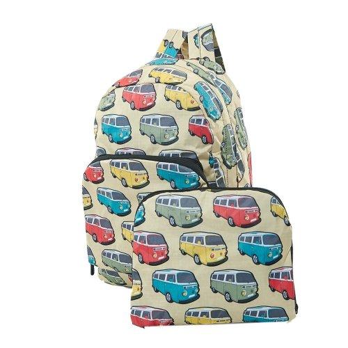 (Beige) CAMPER VAN Expandable Backpack/Rucksack holds 15kg
