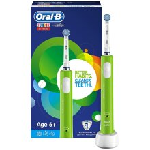 Oral-B Junior Kids Electric Toothbrush Rechargeable for Children Aged 6+, Green