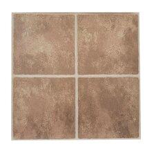 Floor Tiles Self Adhesive Vinyl Flooring Kitchen Bathroom Brown Stone Effect