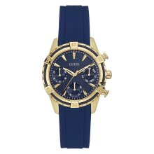 Guess W0562L2 Catalina Gold Tone Case Blue Silicone Band Ladies Watch