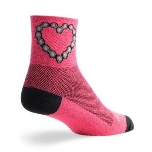 "Socks - SockGuy - Classic 3"" Chain Luv S/M Cycling/Running"