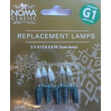 NOMA G1 Replacement Fairy Lamps Fuse bulb Blister Card of 5