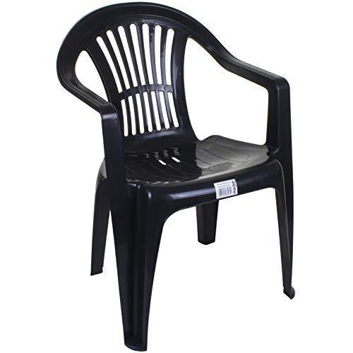 Marko Outdoor Garden Plastic Chair Stacking Chair Patio Outdoor Armchair Low Back Heavy Duty
