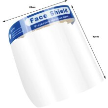Clear Face Shield with Cushioned Headband, Pack of 5