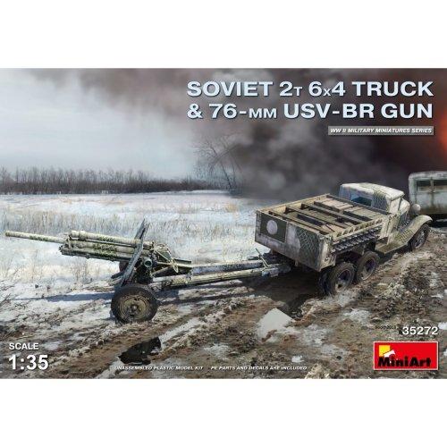 MIN35272 - Miniart 1:35 - Soviet 2 t 6x4 Truck with 76mm USV-BR Gun