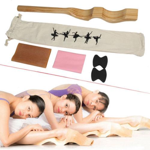 Ballet Foot Stretch Wooden Stretcher Enhancer Elastic Band Dance